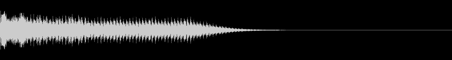 レーザービームの未再生の波形