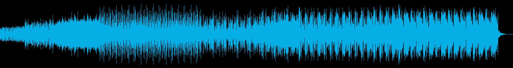シンプルなアルペジオのテクノ05の再生済みの波形