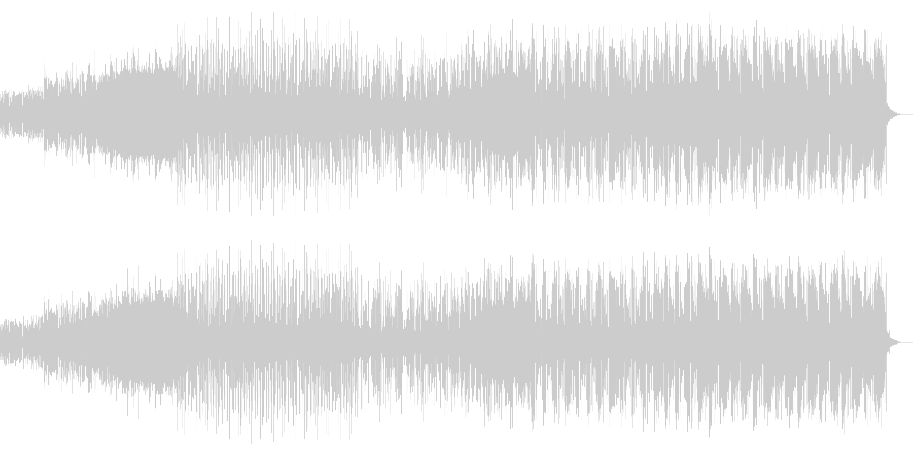 シンプルなアルペジオのテクノ05の未再生の波形