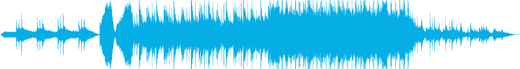 明るく大きな世界観のオーケストラ系の再生済みの波形