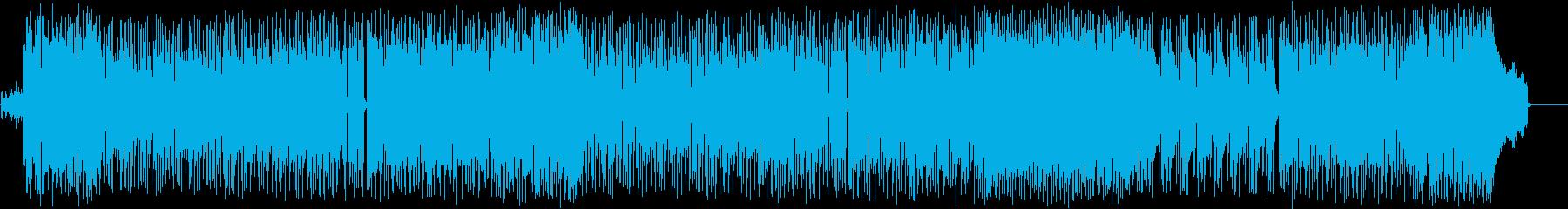 爽やかで楽しげなインストBGMの再生済みの波形