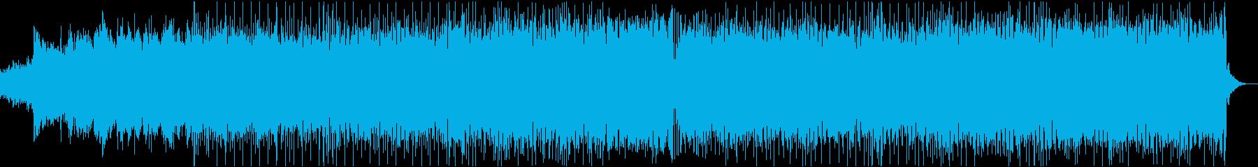 爽やかなシンセポップの再生済みの波形