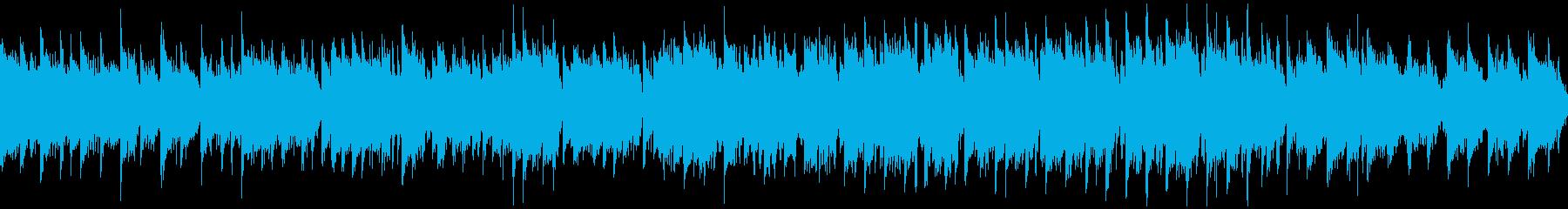 しっとり落ち着いた篠笛の和風曲※ループ版の再生済みの波形