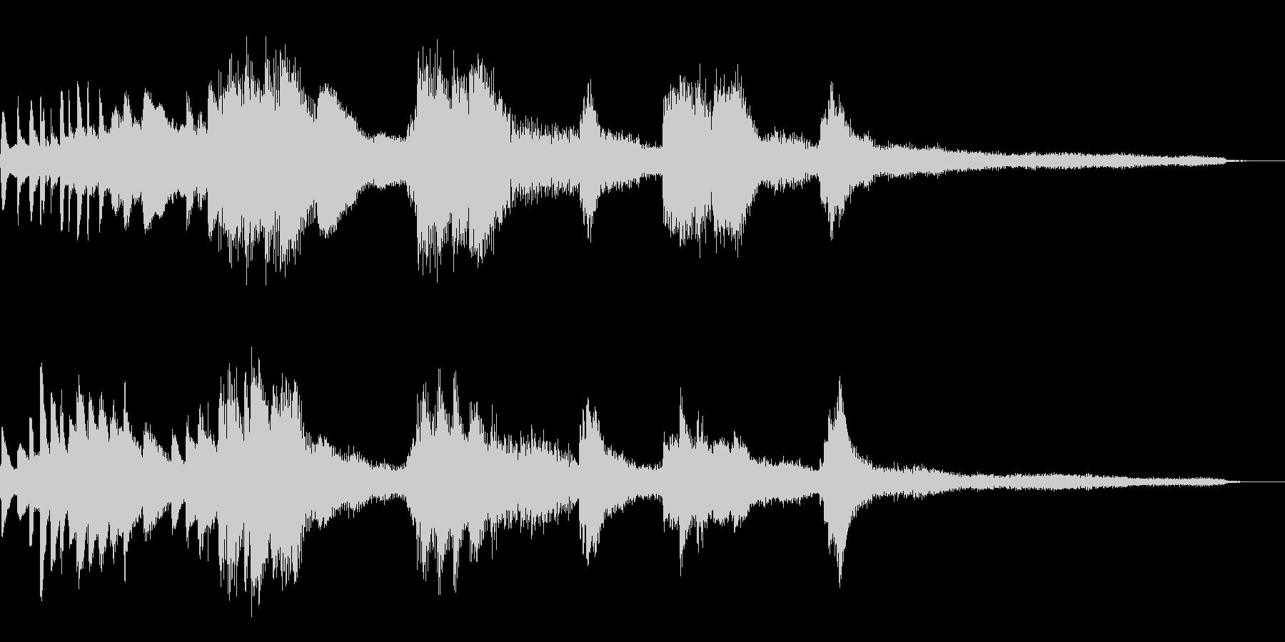 暗く静かな和風ジングル38-ピアノソロの未再生の波形