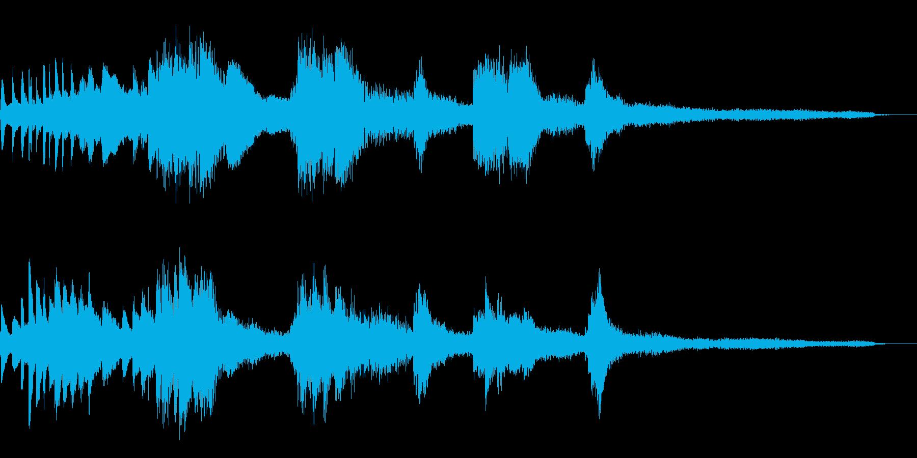 暗く静かな和風ジングル38-ピアノソロの再生済みの波形