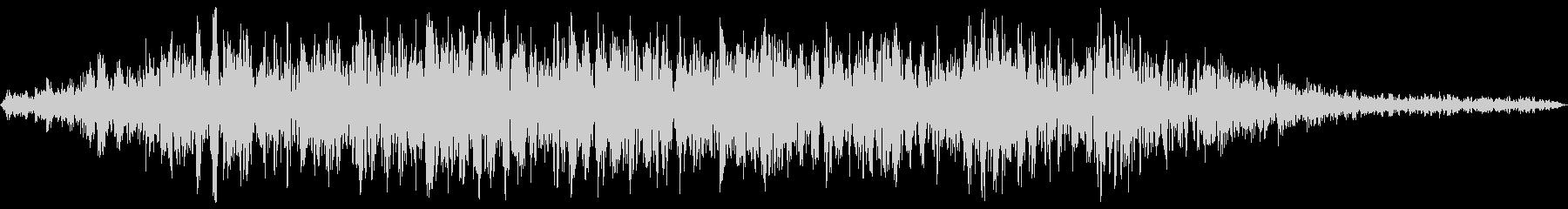 エレベーターの上昇音 リアルな生録音の未再生の波形