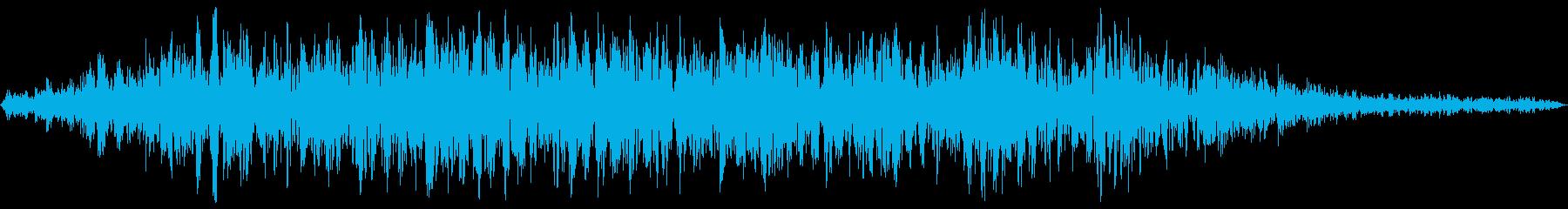 エレベーターの上昇音 リアルな生録音の再生済みの波形