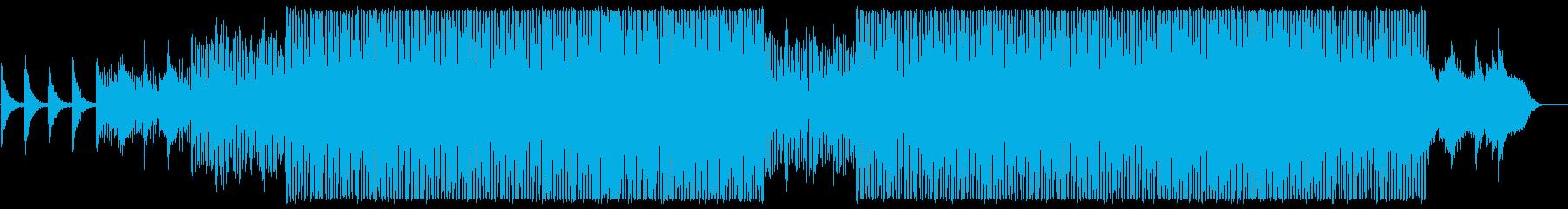 エレピとアナログシンセのテクノの再生済みの波形