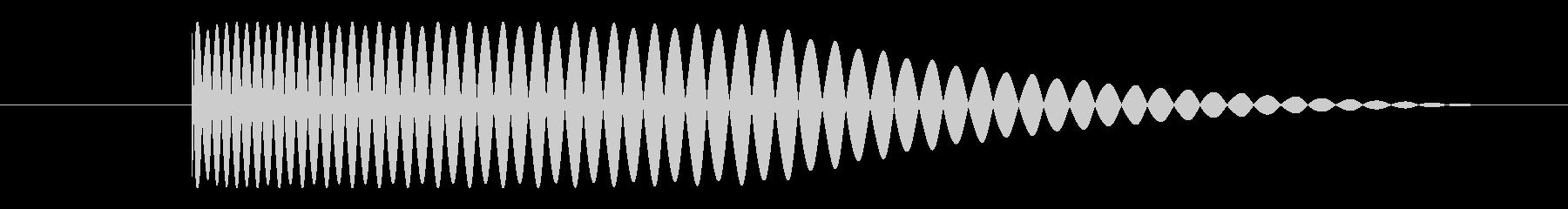 ベース サブキックショート02の未再生の波形