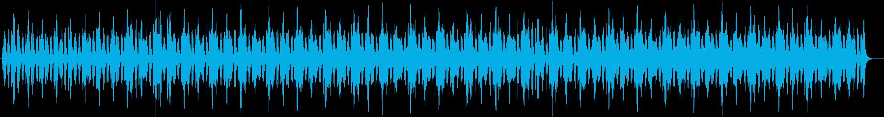 近未来的でクールに繰り返されるフレーズの再生済みの波形