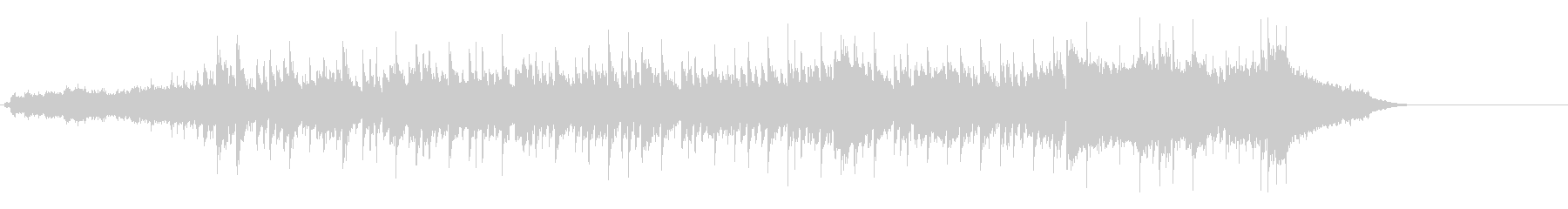 スタイリッシュなBGMの未再生の波形
