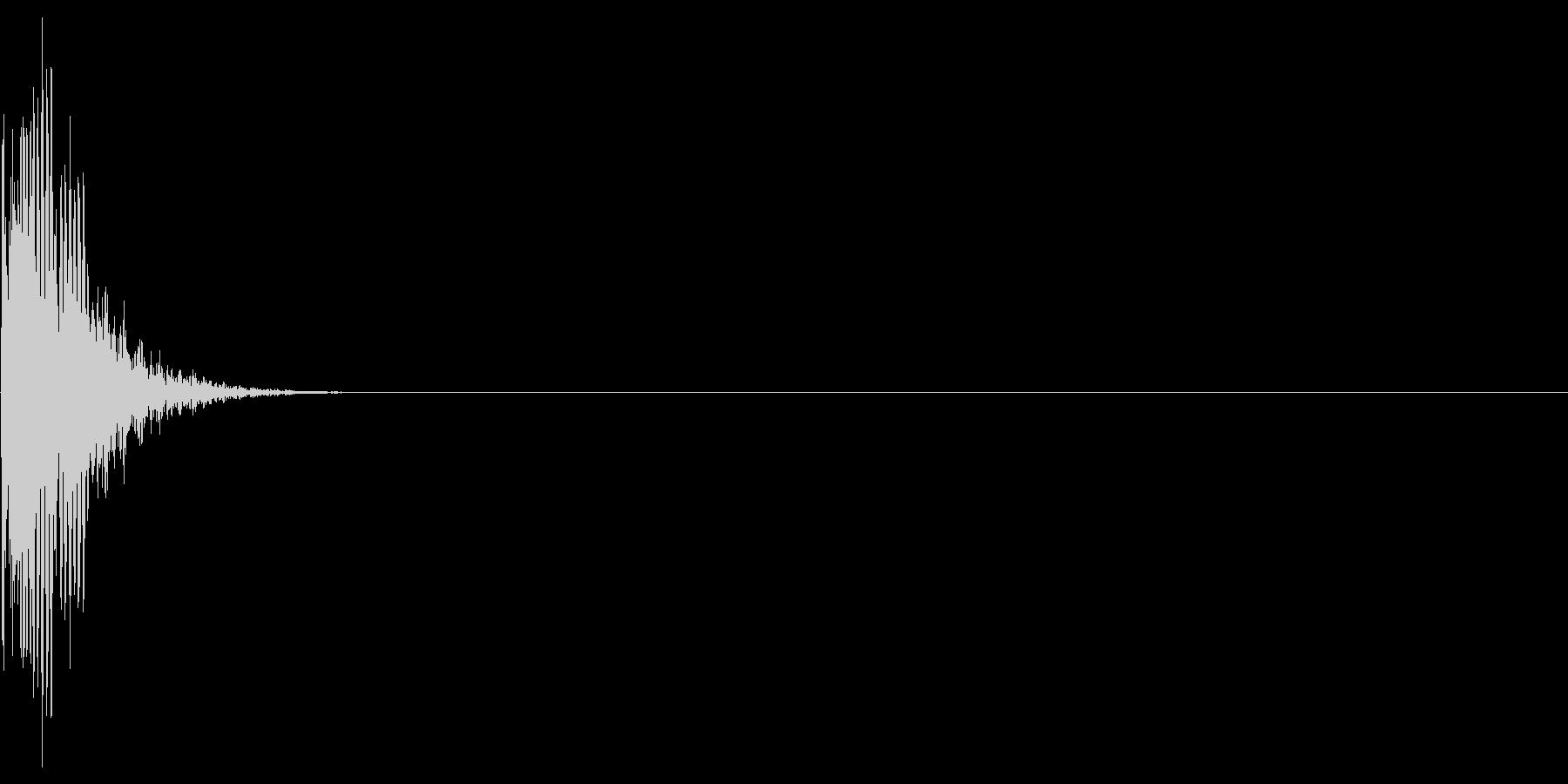 ゲーム・バラエティ的なパンチ音_03の未再生の波形