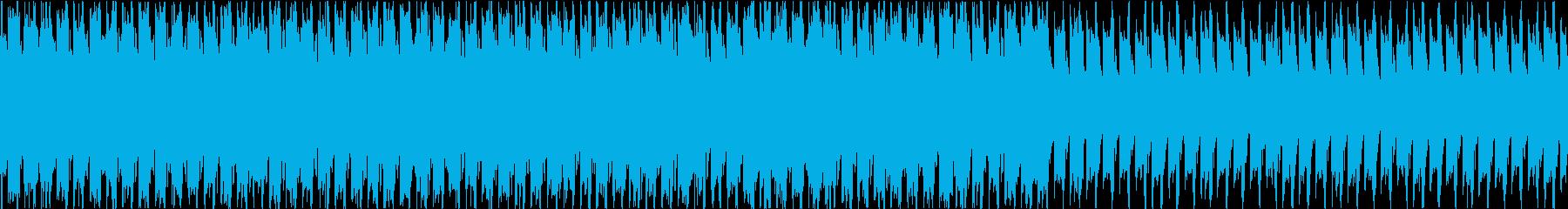 浮遊感のあるトランスBGMの再生済みの波形