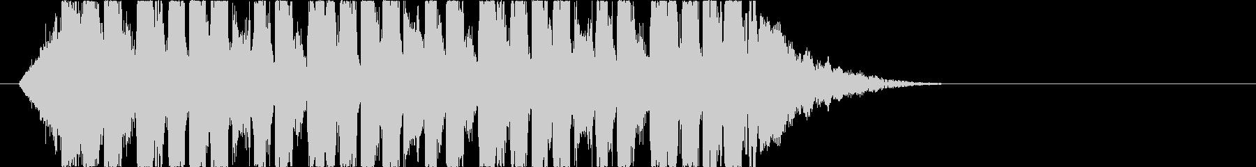 ダンサブルなEDMショートジングルの未再生の波形