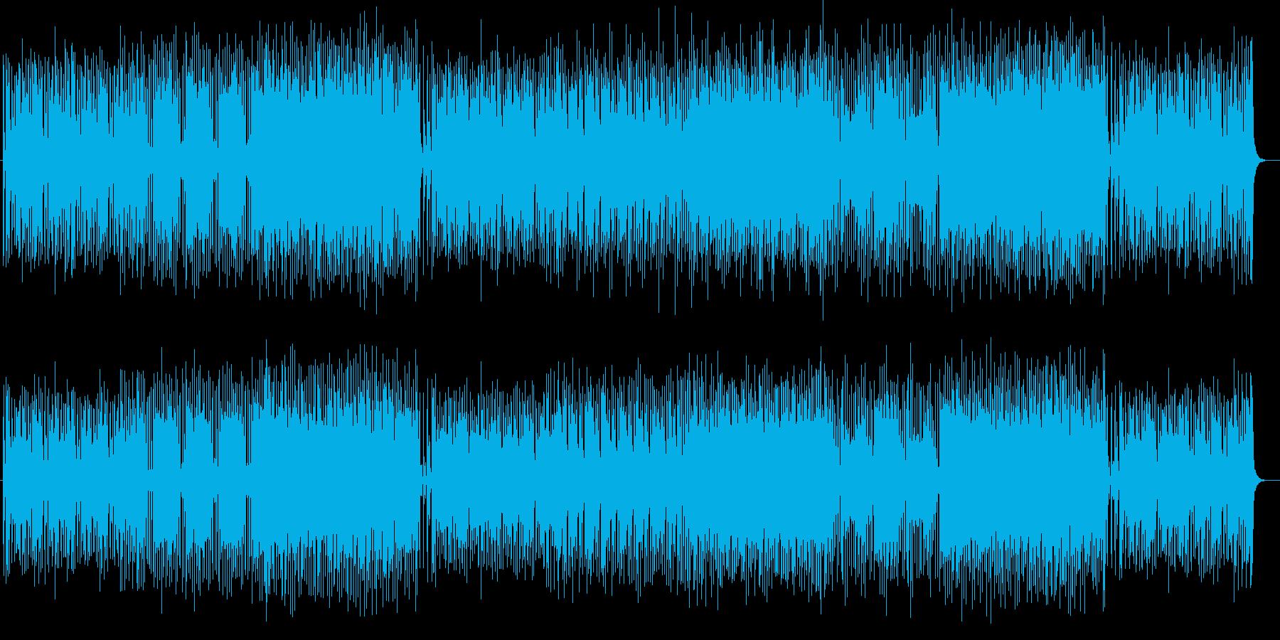 楽しくはじけるシンセサイザーサウンドの再生済みの波形