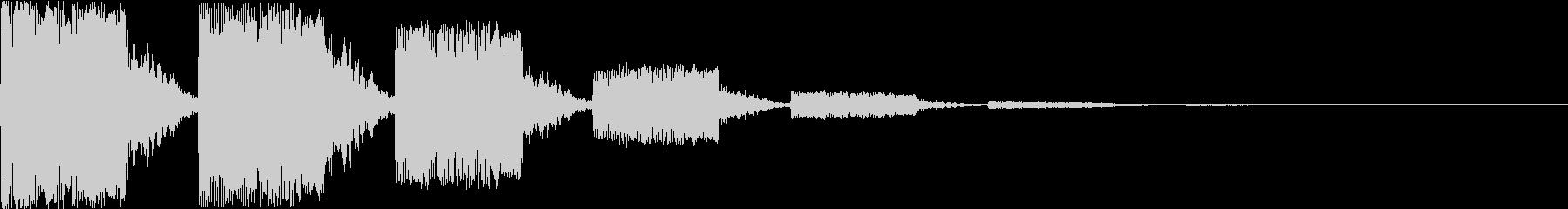 キュイーン:レトロなワープ音・瞬間移動の未再生の波形
