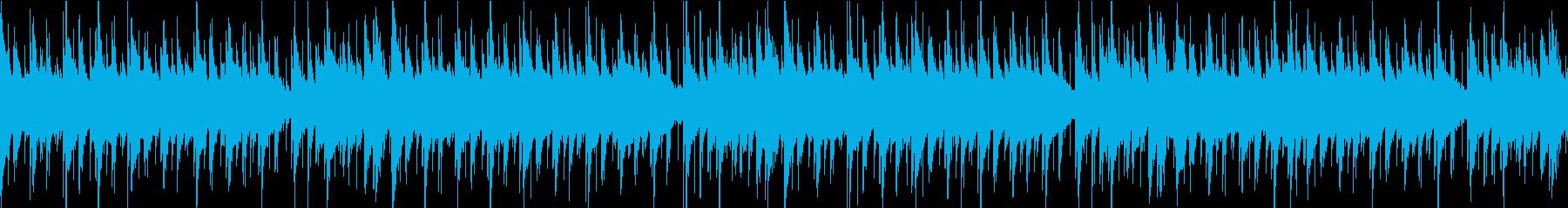 主張の少ないシンプルなブルースのループの再生済みの波形