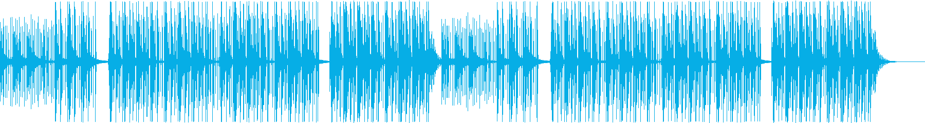 【チル】ゆったりとしたBGM・8の再生済みの波形