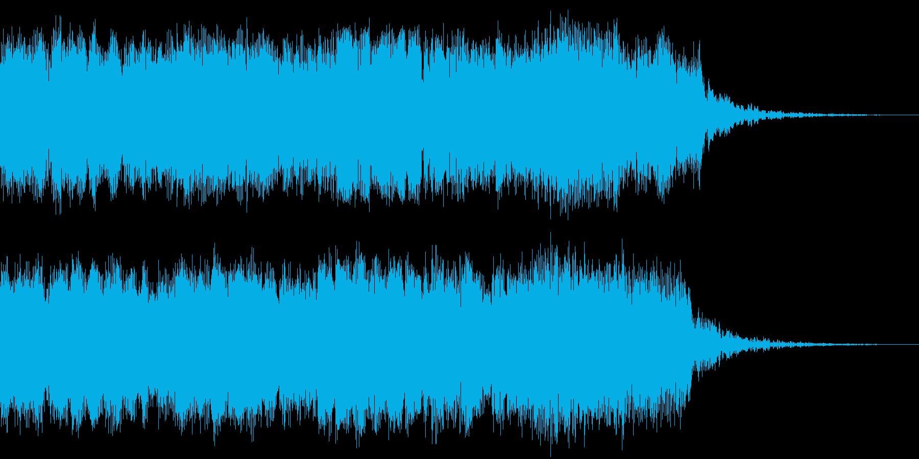 明るいロック イントロジングルの再生済みの波形