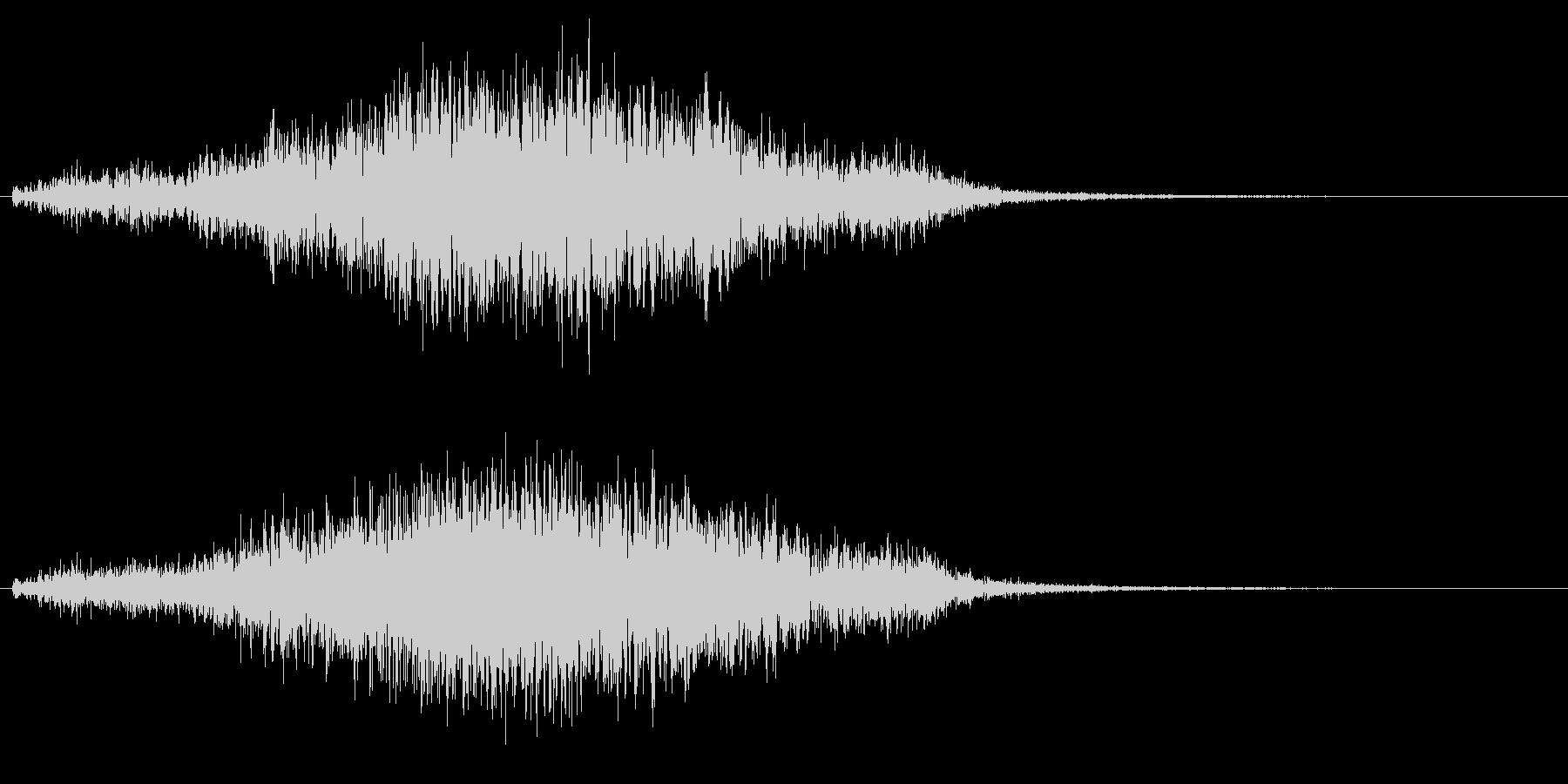イノシシの鳴き声の未再生の波形