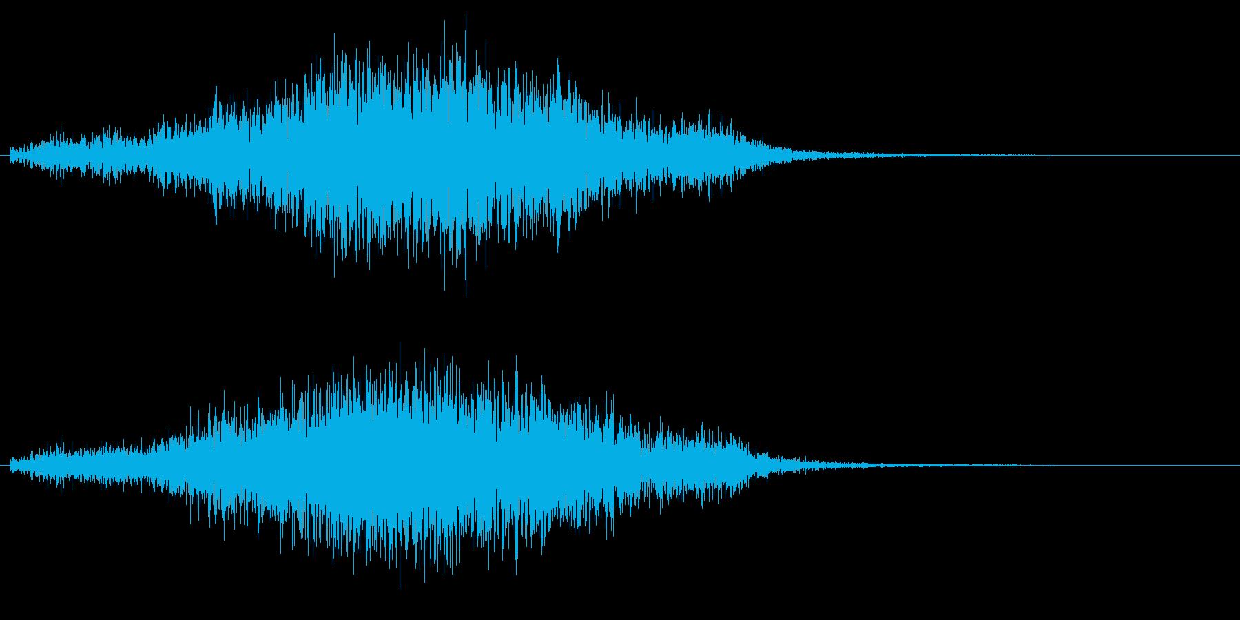 イノシシの鳴き声の再生済みの波形
