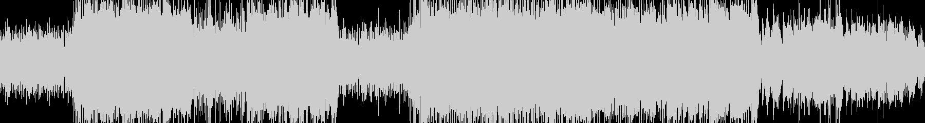 ピアノの旋律が特徴的なBGM:遺跡の未再生の波形