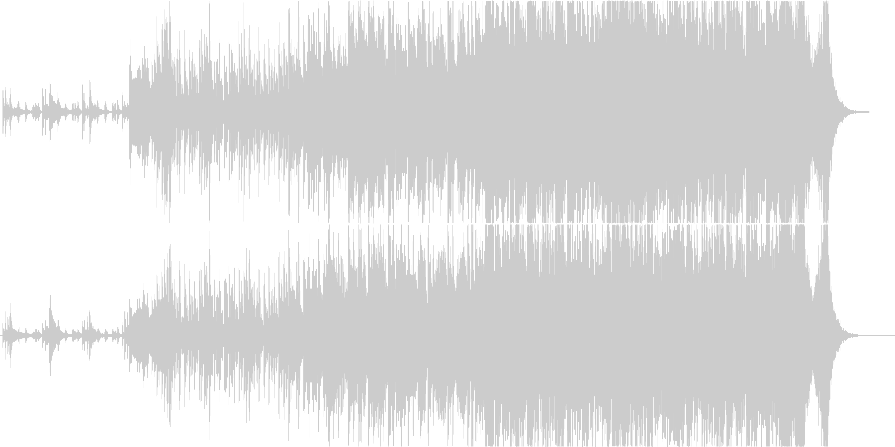 映像】疾走感、壮大感 ピアノオーケストラの未再生の波形