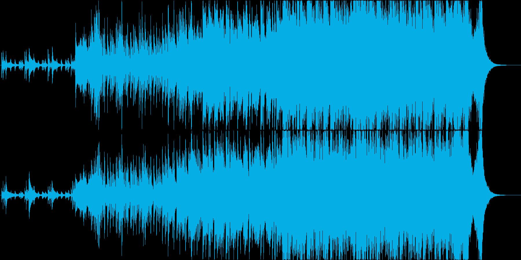映像】疾走感、壮大感 ピアノオーケストラの再生済みの波形