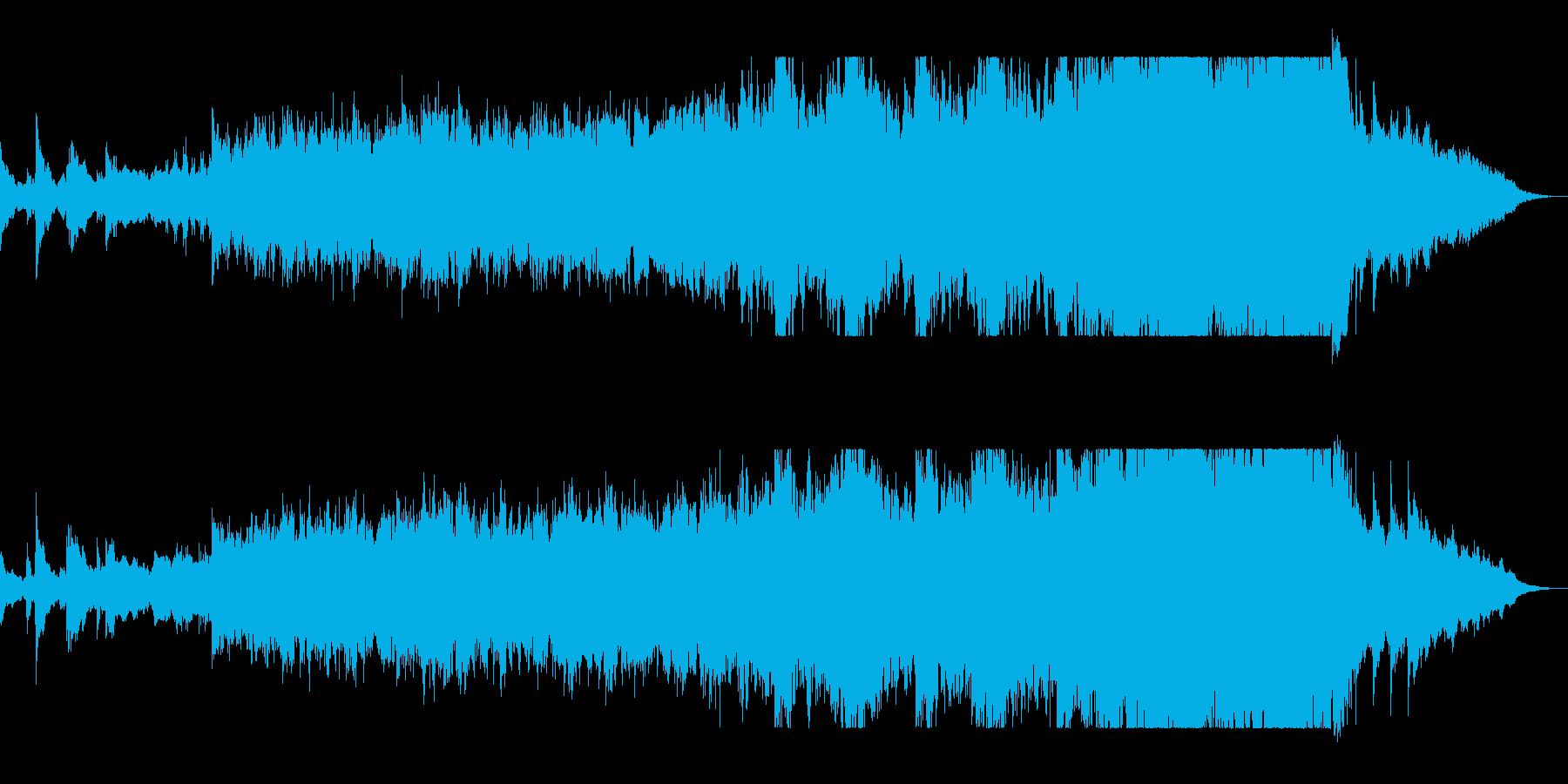 ハスキーな歌声と低音打楽器が特徴の楽曲の再生済みの波形