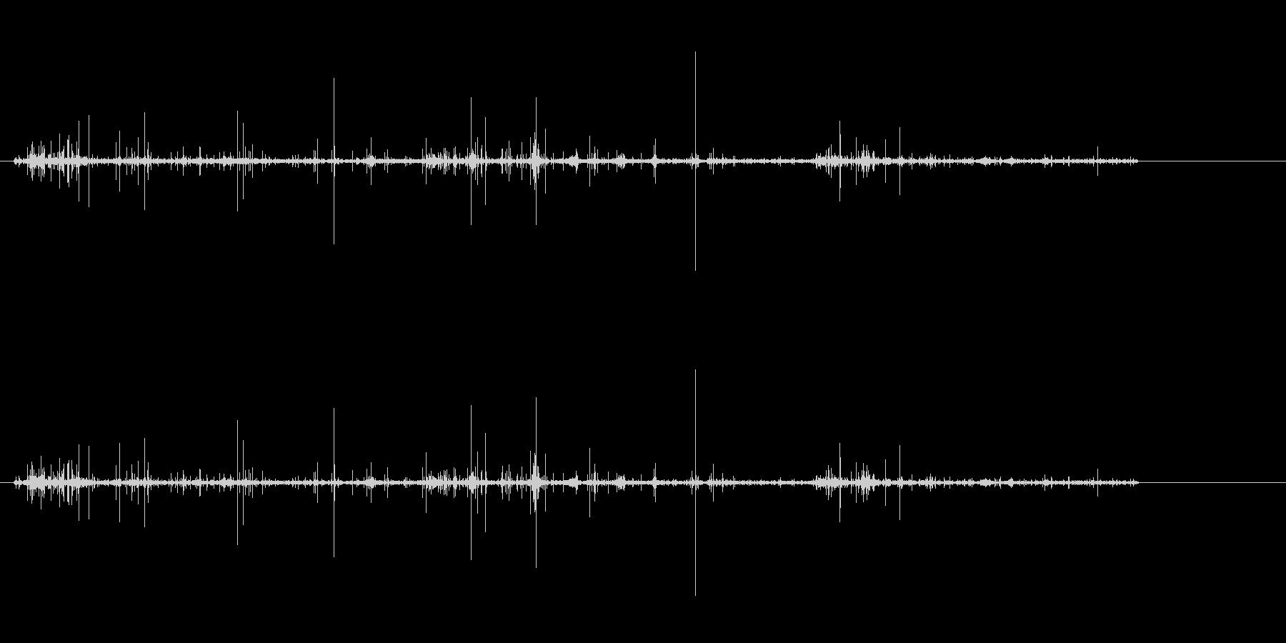 アナログレコードのノイズ音.SEの未再生の波形