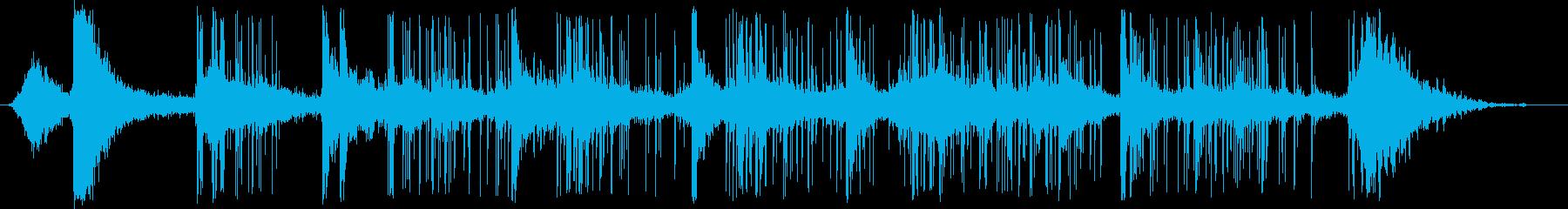 花火とBus騒の再生済みの波形