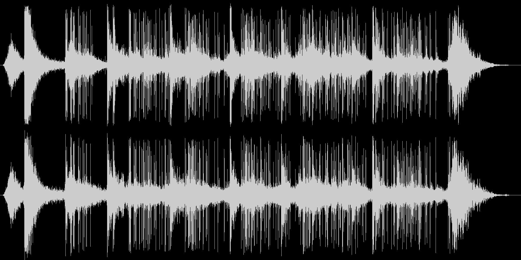 花火とBus騒の未再生の波形