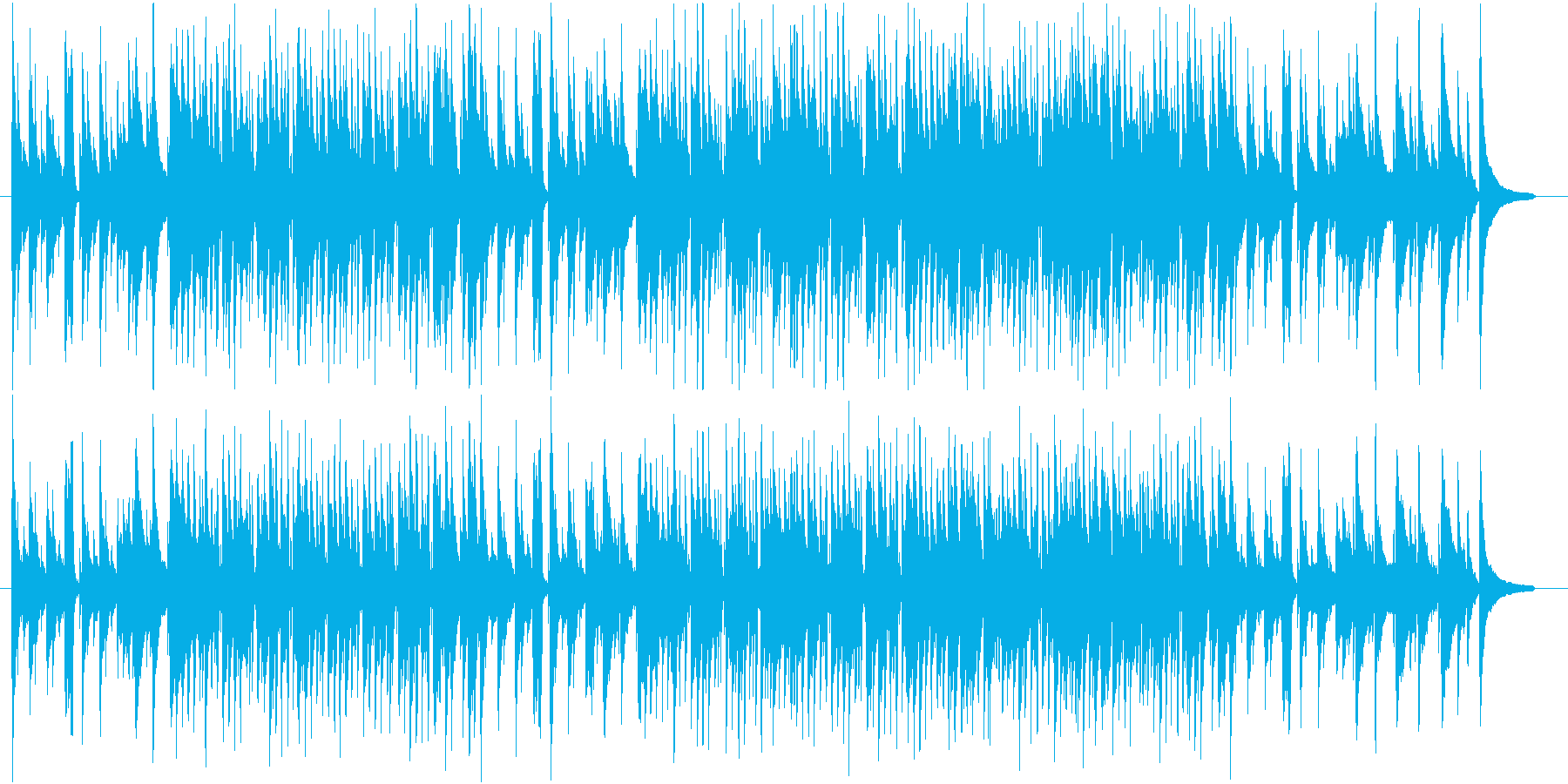馴染みやすいジャズっぽいポップスの再生済みの波形