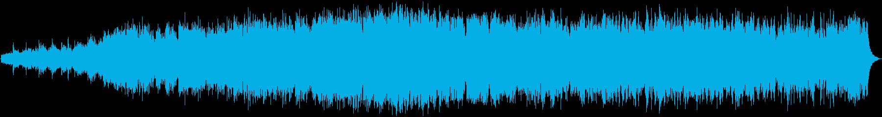 古代文明の儀式の音楽の再生済みの波形