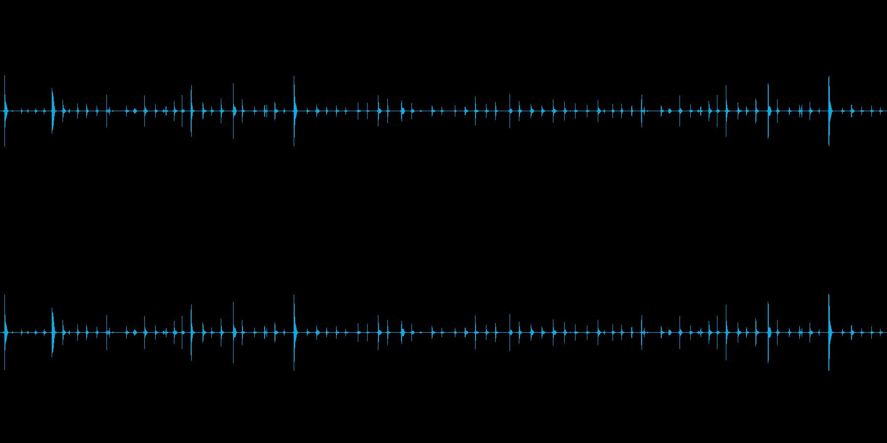 チャポンチャポン(水が滴る音)の再生済みの波形