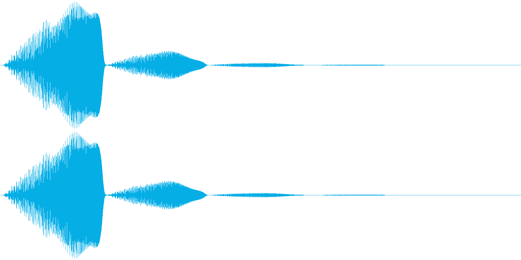 柔らかいもの(揺れ触る等)ポヨンの再生済みの波形