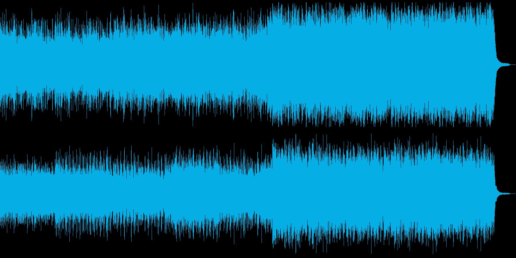 ピアノと民族コーラス 後半の弦アルペジオの再生済みの波形
