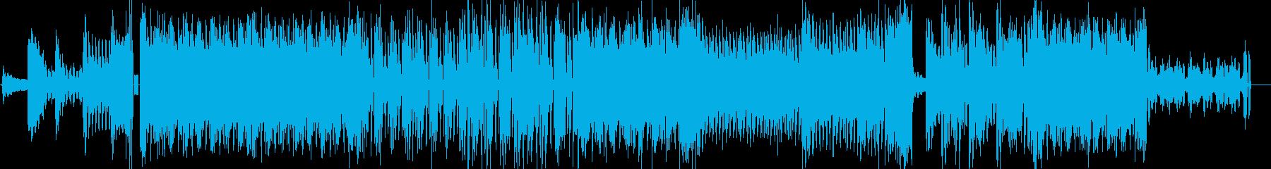 キラキラポッピンダンシングな曲の再生済みの波形