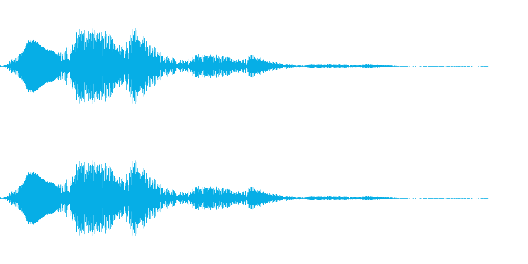 ポワッとしたかわいい音です。の再生済みの波形