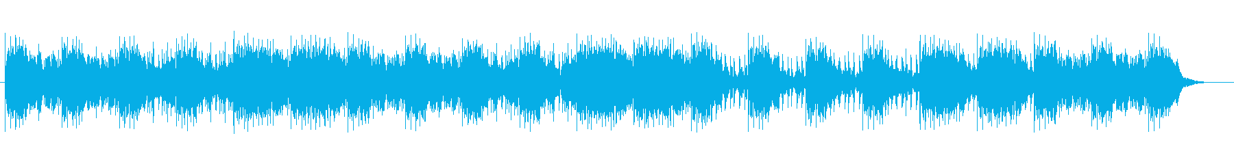 Refreshing healing music's reproduced waveform