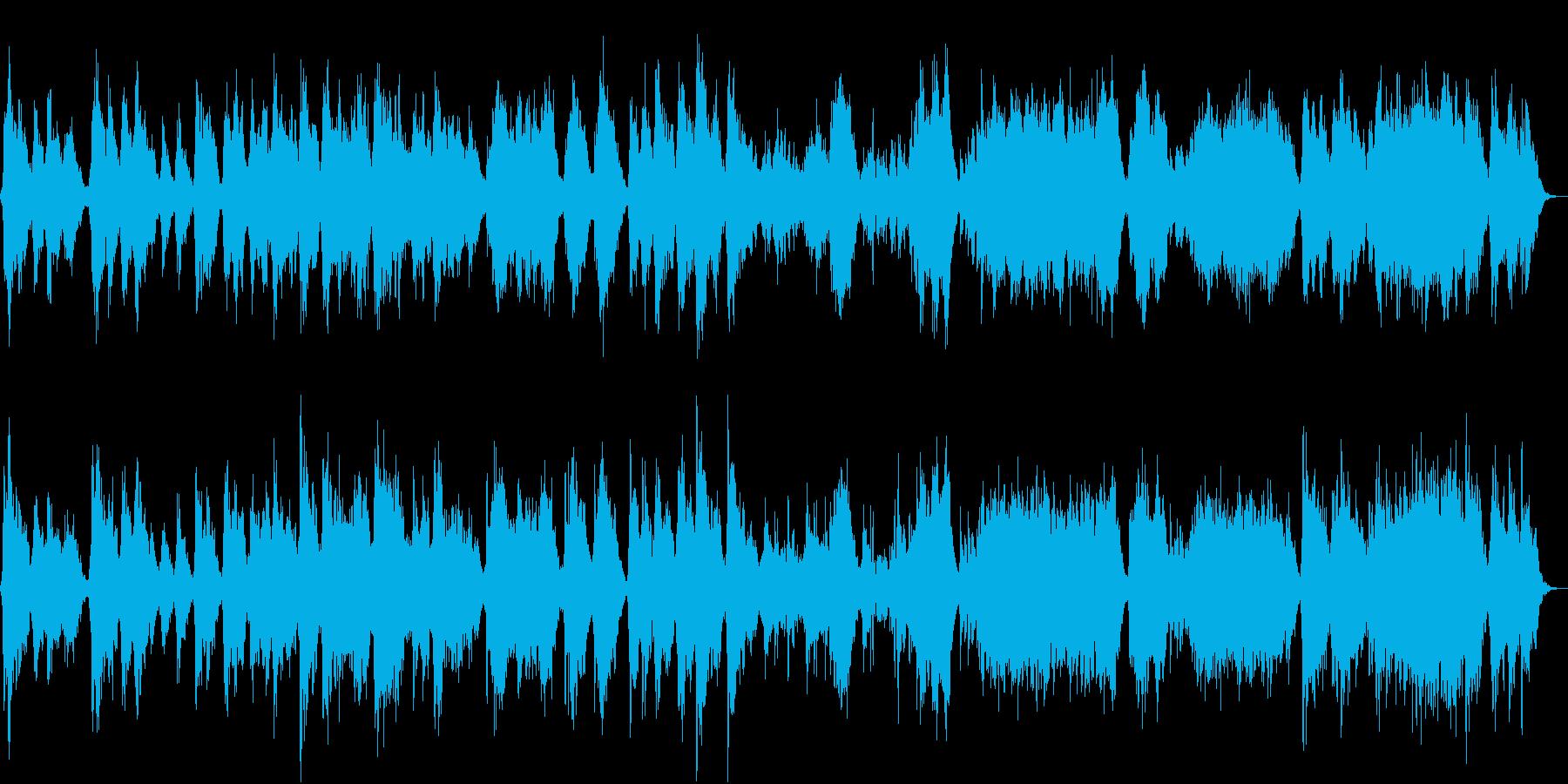 パッド系中心の心が落ち着くBGMの再生済みの波形