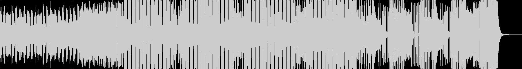 低音が強めに響くEDMの未再生の波形
