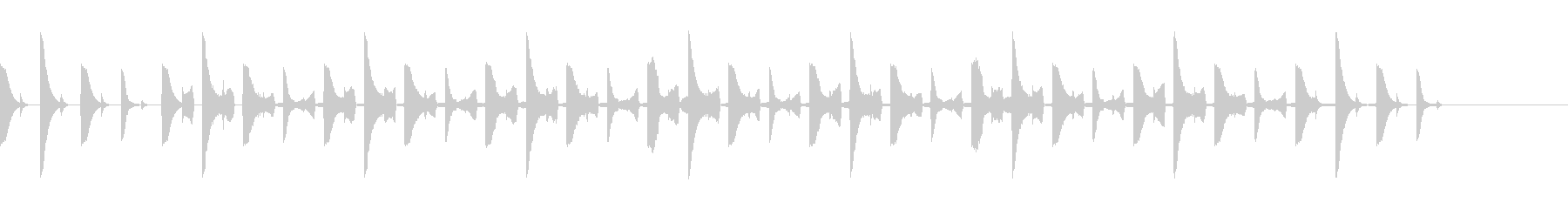 テクノ、ポップ、シンセ、ジングル1の未再生の波形