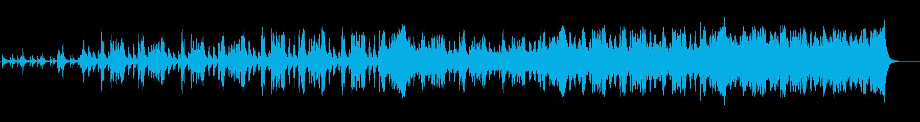 重々しい旋律の再生済みの波形
