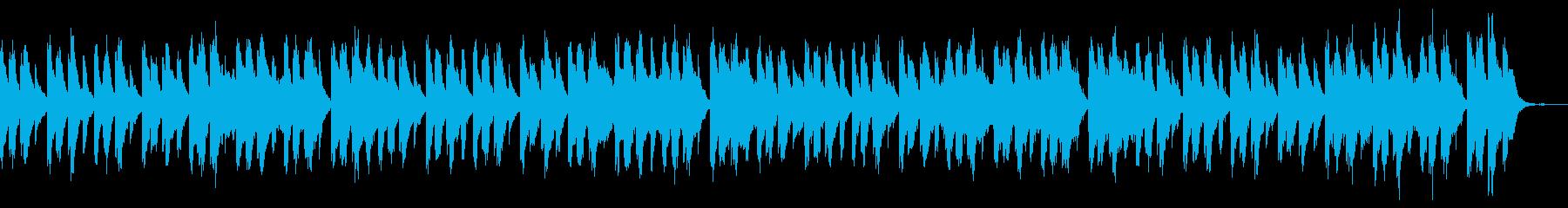 怖い雰囲気のピアノの曲の再生済みの波形