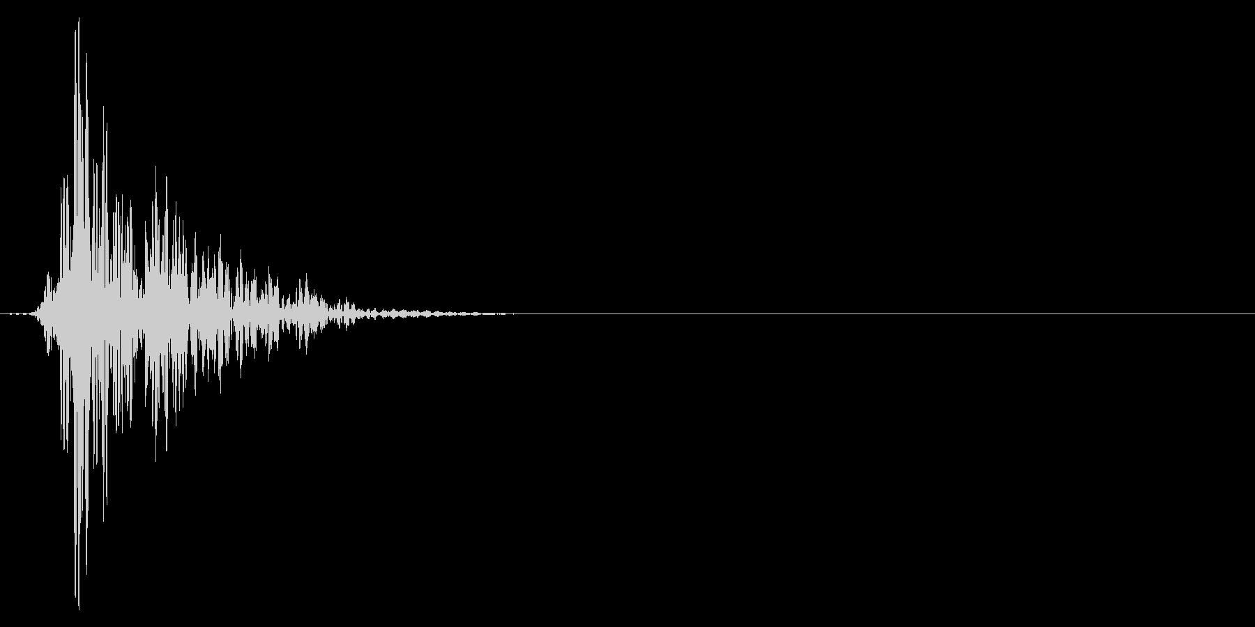 ゲーム掛け声ゾンビ1アッ1の未再生の波形