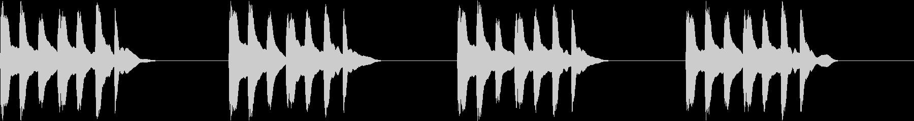 シンプル ベル 着信音 チャイム C16の未再生の波形