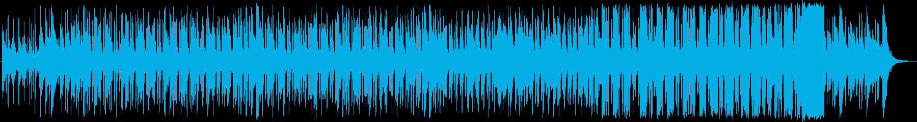 華やかで気持ち高まるパワフルな音楽の再生済みの波形