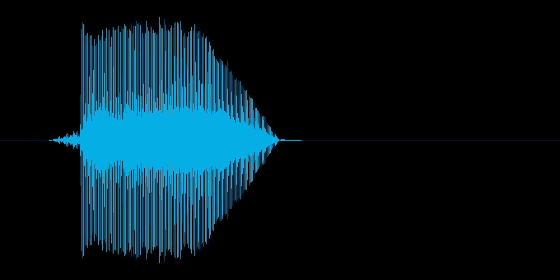 ゲーム(ファミコン風)レーザー音_023の再生済みの波形