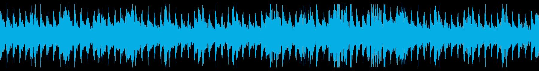 重厚で緊迫感のあるループBGMの再生済みの波形